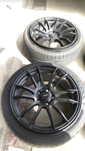 "2x ""18 Avid 1 Matte Black NEW TIRES for Sale in Fullerton, CA"