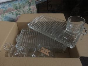 Vintage snack trays with cup holder and ashtray for Sale in Tacoma, WA