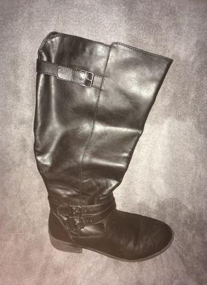 Black riding boots Size 10W for Sale in Phoenix, AZ
