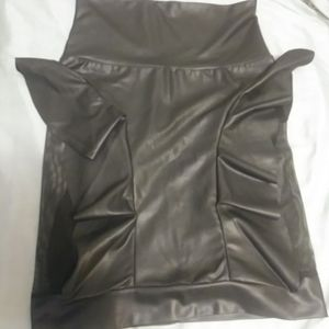 BOUTIQUE PURCHASE...FAUX LEATHER HIGH WAIST (VERY FITTED) SKIRT WITH MESH THIGH AREA and RUFFLE detail...size MEDIUM for Sale in Chicago, IL