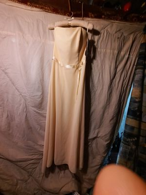 Yellow jessica mcclintock bridesmaid dress suze 16 with tags priced at 160.00 when purchased for Sale in Independence, MO