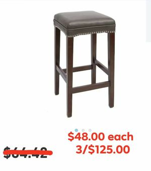 Cheyenne faux leather upholstered bar stools for Sale in Kyle, TX