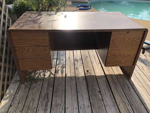 Heavy duty desk with built in filing drawer