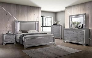 """🌟NEW ARRIVAL """"VAIL GLAM BEDROOM SET METALIC FINISH WOOD LED LIGHT HEADBOARD """" for Sale in Long Beach, CA"""