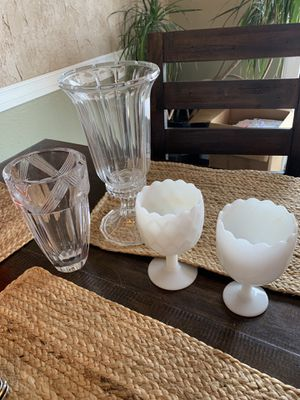 Crystal and glass vases for Sale in Billings, MT