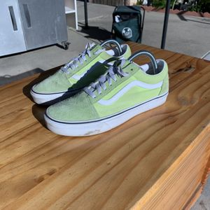 Green Neon Vans Size 8M/10W for Sale in Commerce, CA
