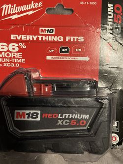 Milwaukee M18 Red lithium XC5.0 Battery for Sale in St. Louis,  MO