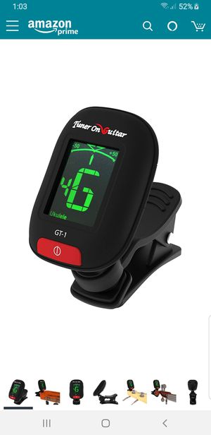 Brand new Clip-On Tuner for All Instruments, Guitar, Ukulele, Bass, Violin, Chromatic Tuning Modes, Fast & Accurate, Easy to use for Sale in Union City, CA