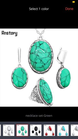 Oval natural stone new jewelry set ring is size 9 for Sale in Manassas, VA