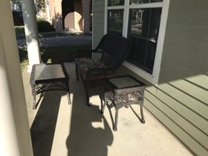 Patio Furniture, cushions included. Must pick up from Fort Sam Houston.. military ID required for Sale in San Antonio, TX