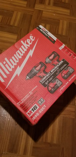 Milwaukee Combo kit Drill and Impact Driver Brushless M18 for Sale in Norwalk, CA