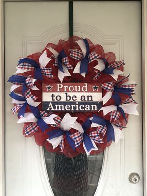 Patriotic wreath for Sale in Pittsburgh, PA