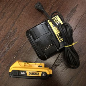 New Dewalt Battery 2.0And Used Charger 20 Volts for Sale in Washington, DC
