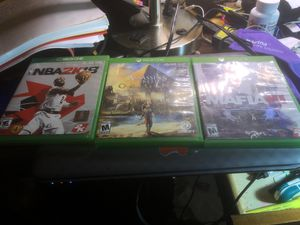 Xbox one NBA2K18 and assassin's creed ORIGIN and MAFIA 3 for Sale in Fort Lauderdale, FL
