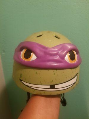 Ninja Turtles Bike helmet..size small youth..like new! for Sale in Modesto, CA