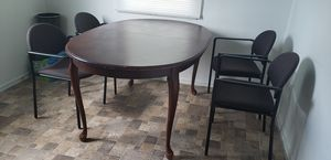 Clean dining table with chairs for Sale in UPPER ARLNGTN, OH