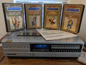 4 Disney Limited Gold Edition Beta tapes + Sanyo VCR 4400 Beta for Sale in Chandler, AZ