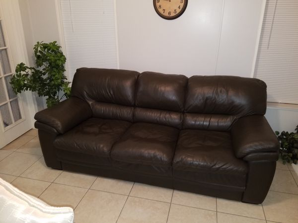 Natuzzi leather sofa for Sale in Tampa, FL - OfferUp