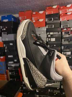 Air jordan black cement 3 size 9.5 for Sale in Valley View, OH