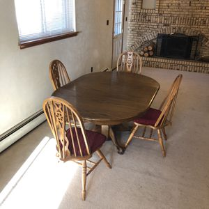 Wood Dining Room Table And 4 Chairs for Sale in Arvada, CO
