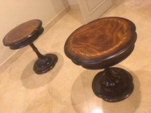 $350.Finished wood end tables. Make an offer. I will get back to you asap. Pick up only. for Sale in Las Vegas, NV