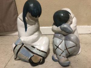 Lladro Eskimo Boy and Girl for Sale in Sacramento, CA