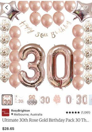 30th birthday balloons for Sale in Allentown, PA