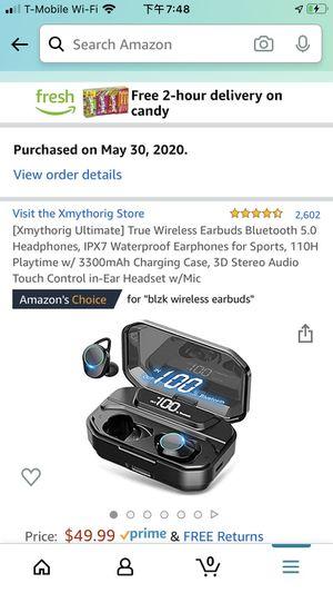 Xmythorig Ultimate] True Wireless Earbuds Bluetooth 5.0 Headphones, IPX7 Waterproof Earphones for Sports, 110H Playtime w/ 3300mAh Charging Case, 3D for Sale in Boston, MA