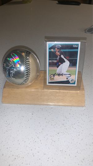 Gaby Sanchez autographed card, display and reflective baseball for Sale in Round Rock, TX