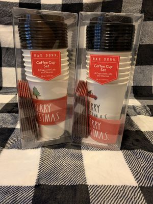 Rae Dunn Christmas Paper Cups for Sale in Brick Township, NJ