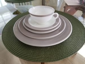 Vintage 1952 Pyrex Dinnerware Dove Gray Rimmed for Sale in San Diego, CA