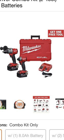 Milwaukee M18 Fuel Hammer Drill Impact Drill 2 Batteries And Charger for Sale in St. Louis,  MO