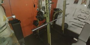 Nautilus weight rack weights olympic squat for Sale in Fresno, CA