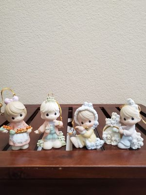 New Enesco/Precious Moments Porcelain Ornaments/12 Days Of Christmas/9th - 12th in Series for Sale in Huntington Beach, CA