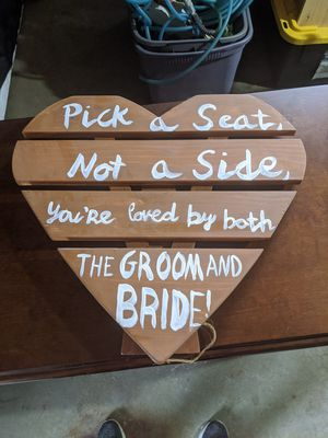 Heart wedding reception sign for Sale in Sandy, UT