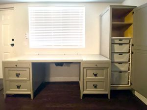 Handbuilt desk and cabinet for Sale in Phoenix, AZ