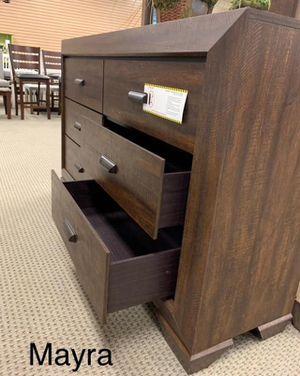 (((Dresser mirror nightstand bed frame queen))) Farrow chocolate panel bedroom set for Sale in Katy, TX