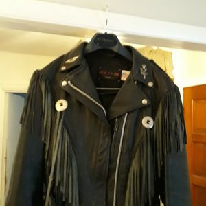 Motorcycle Riding Leather Jacket, Leather Vest and Leather Riding Chaps for Sale in Fort Worth, TX