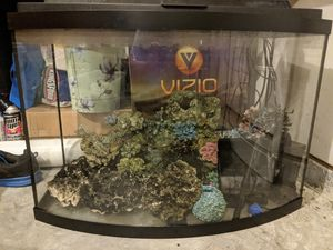 38 Gallon Bowfront Fish Tank w/ Accessories for Sale in Durham, NC