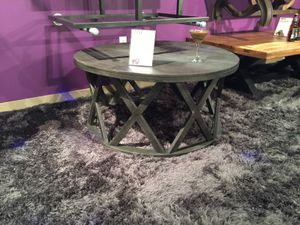 Round Cocktail Table, Greyish Brown, #T711-8 for Sale in Norwalk, CA