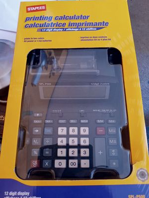 Staples printing calculator and paper for Sale in Oakland, CA