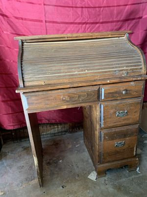 Desk antique wood type with slide for Sale in Newark, CA