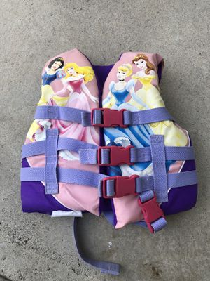Disney princess life jacket $10 firm for Sale in Anaheim, CA