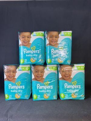 5 packs Pampers diapers size 6 (21 count per bag) cashapp to hold for Sale in Melvindale, MI