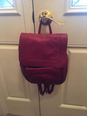 New w/out tags Soft Wilsons Leather red Backpack purse for Sale in Norfolk, VA