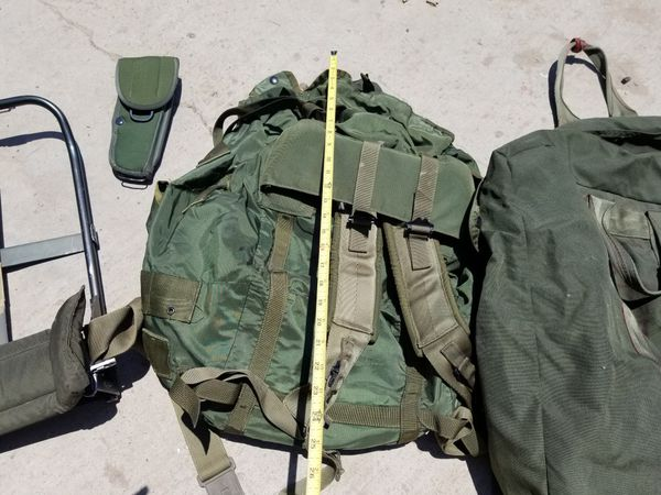Large Military Backpack and Duffle Bag - All for $40