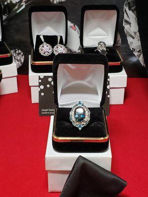 Solid silver Tanzanite aquamarine sz 7 for Sale in Meriden, CT