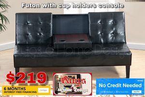 Futon with cup holders for Sale in Visalia, CA