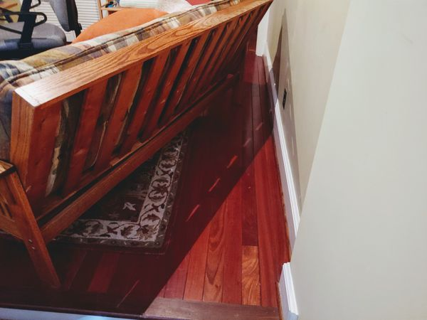 Solid oak futon