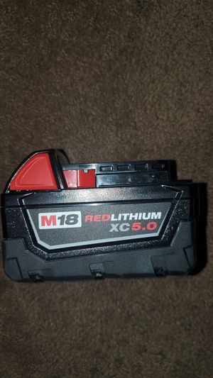 Milwaukee 5.0 battery for Sale in Montclair, CA